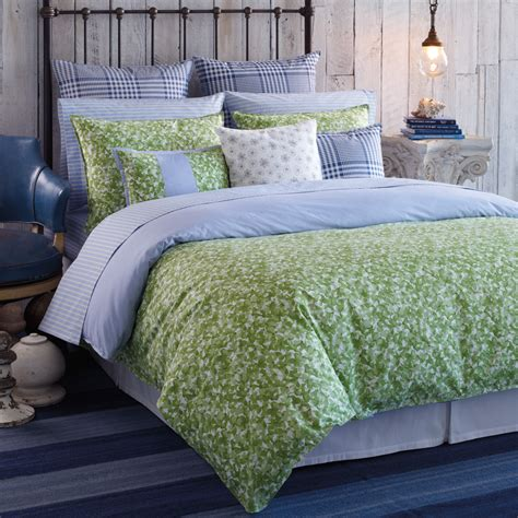 blue and green bedding tommy hilfiger hydrangea petal queen comforter set shabby
