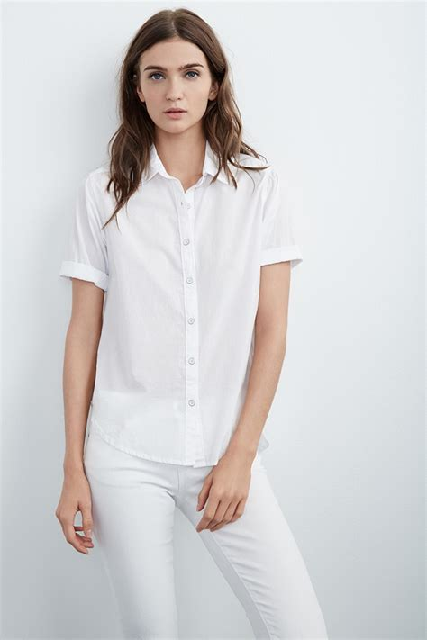 2644 Blouse Rayon F8 women s white sleeve button up blouse clothing