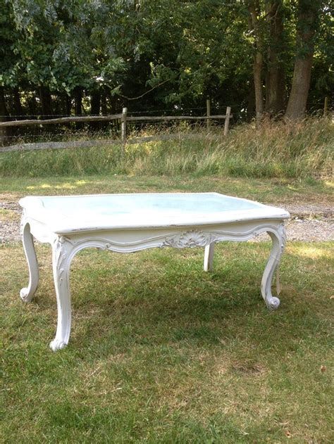 white shabby chic coffee table vintage furniture barn pinterest