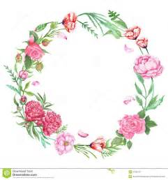 shabby chic floral wreath stock illustration image 57362727
