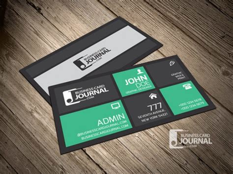 Color Business Card Template by Metro Business Card Template In Green Color Psd File