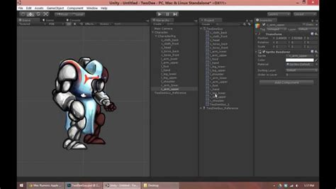 unity tutorial animation character building a 2d character rig with unity part 2 youtube
