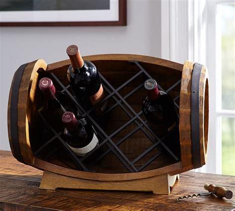 table top wine rack barrel tabletop wine rack pottery barn