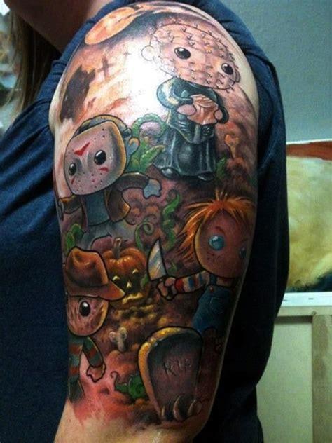 cartoon tattoo half sleeve cartoon tattoo images designs