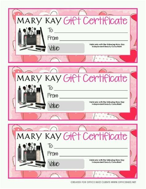 37 best images about mary kay gift certificates on