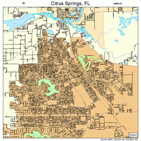 florida springs map citrus springs florida map 1212450
