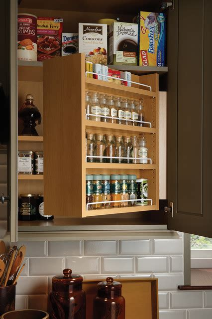 swing  spice cabinet traditional kitchen