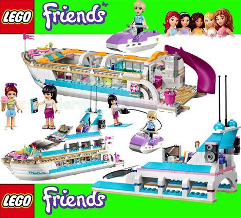 jacht lego friends lego friends 41015 yacht dolphin cruiser avec mia maya
