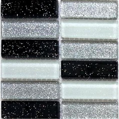 schwarze glitzer fliesen glas mosaik fliesen in schwarze wei 223 e gr 252 n silberne mit