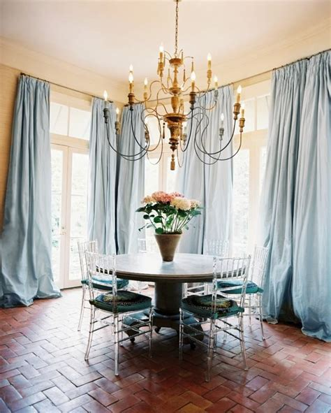 Google Image Result For Http Curtainscolors Com Pic Light Blue Dining Room