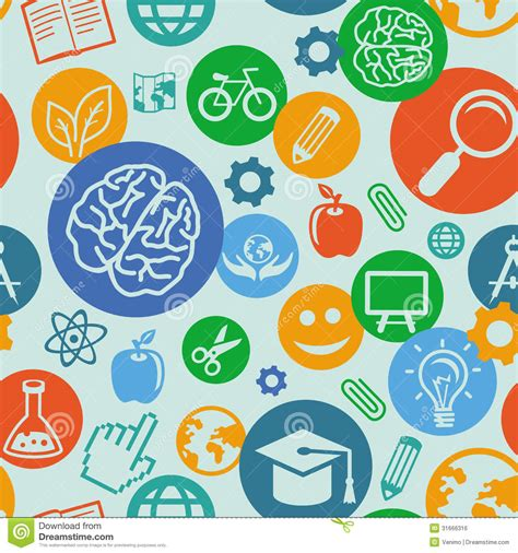 background wallpaper education icon vector seamless pattern with education icons royalty free