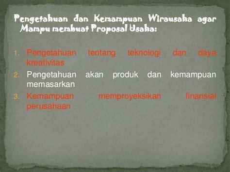 membuat proposal wirausaha pengertian proposal usaha