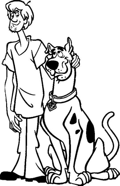 Scooby Doo And Shaggy Coloring Page Scooby Doo Pinterest Shaggy Coloring Page