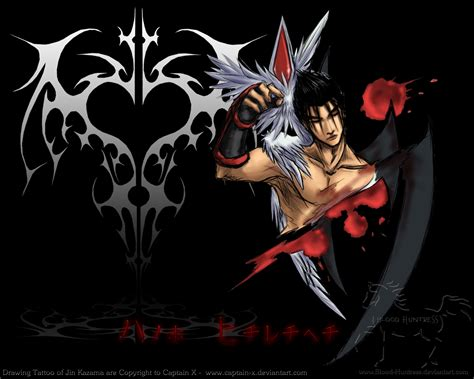 jin kazama tattoo jin kazama drawing by blood huntress on deviantart