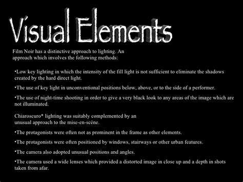 themes in film noir included film noir presentation