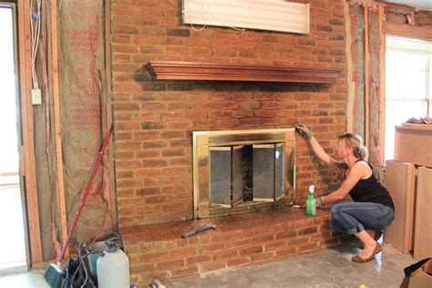 How To Clean Fireplace Brick And Mortar by Brick Mortar Wash Before After Maybe A Tutorial