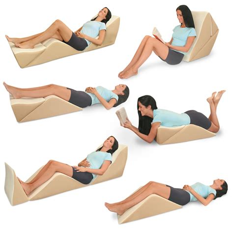 positions in bed the eight position bed lounger hammacher schlemmer