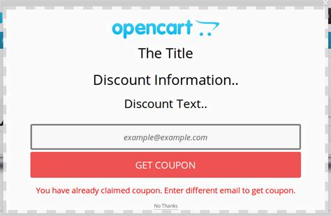 opencart coupon popup