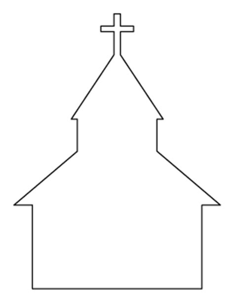 Free Religious Patterns For Crafts Stencils And More Church Model Template