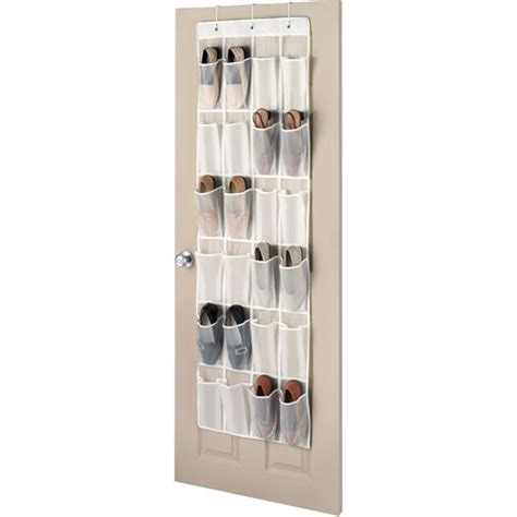 the door shoe storage whitmor peva the door shoe organizer walmart