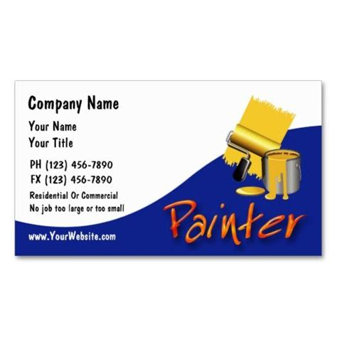 painter business card template 199 best images about painter business cards on