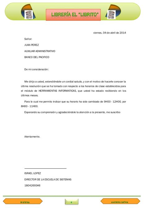 imagenes de cartas informativas cartas formales