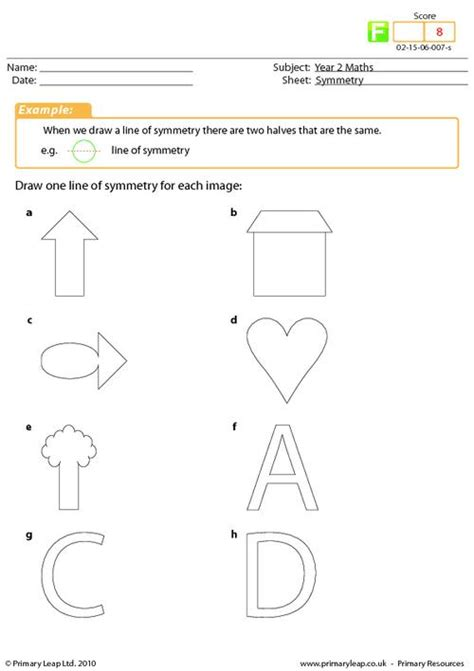 Lines Of Symmetry Worksheets by 100 Worksheet For Symmetry Symmetry Worksheet Fall