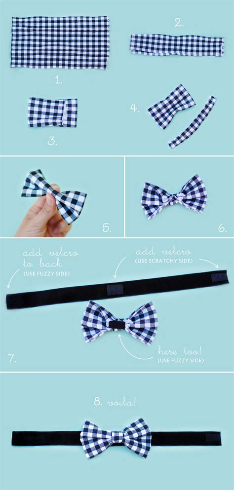How To Make A Bow Tie Out Of Paper - diy no sew wedding bow tie chic sprinkles