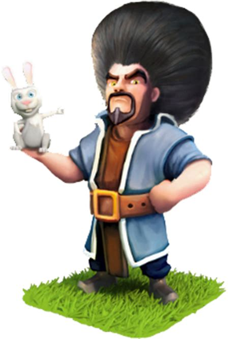 Clash Of Clan Wizard With Rabbit images clash of clans clash royale hay day