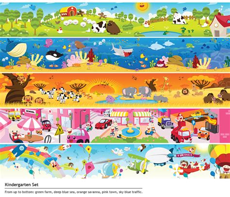 The Gallery For Gt Preschool Background Png by Iph Schools Classroom Wallpaper Set On Behance