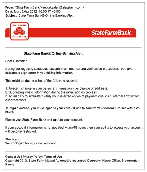 Falsified Emails From Agents State Farm 174 State Farm Business Plan Template