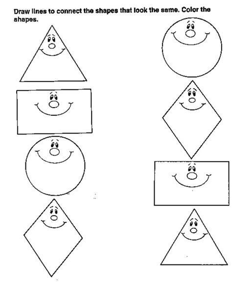 ejercicios de figuras geometricas une formas iguales dibujalia dibujos para colorear