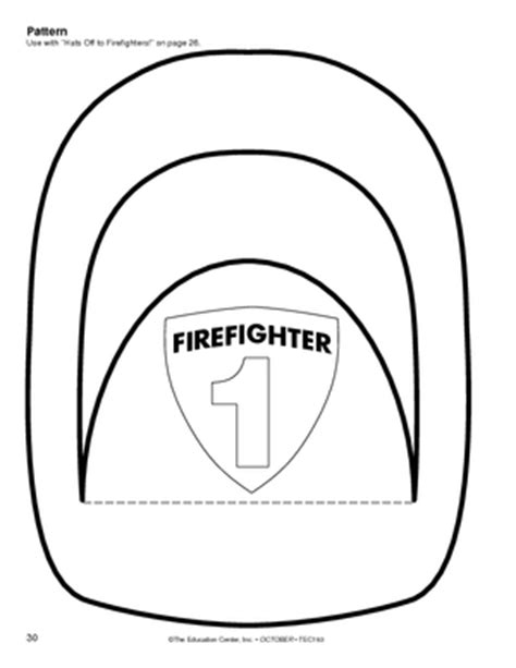 Firefighter Hat Template Preschool firefighter hat craft clipart best