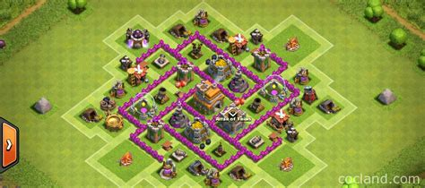 strong defense base th6 clash of clans guide th6 farming base 2 air defenses