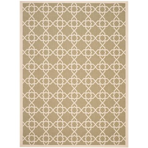 8 ft outdoor rug safavieh courtyard green beige 8 ft 11 in x 12 ft indoor outdoor area rug cy6243 244 9 the