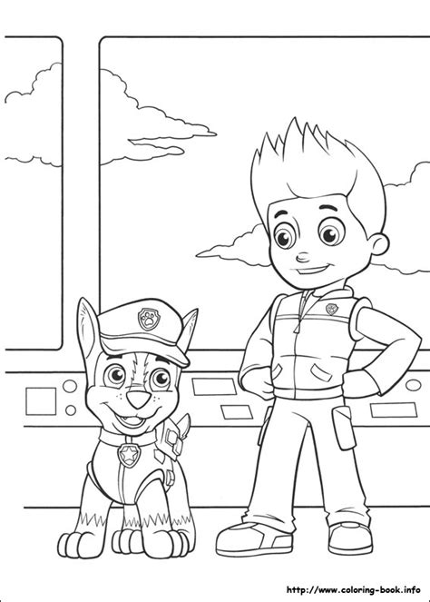 coloring pages of chase paw patrol paw patrol coloring pages coloring home