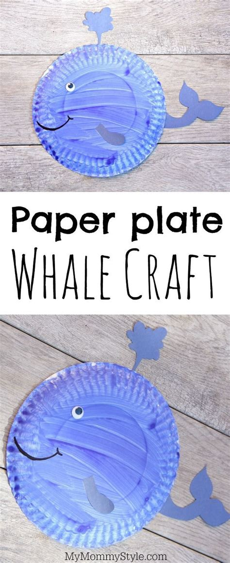 Paper Plate Whale Craft - paper plate craft for preschoolers this whale is made