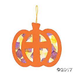 Christmas Cards Crafts For Kids - christian pumpkin tissue paper sign craft kit