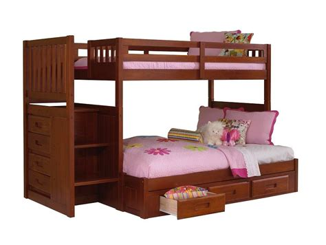 Bunk Beds Furniture by Discovery World Furniture Merlot Staircase