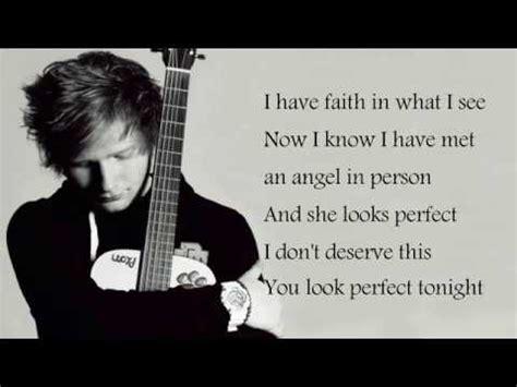 ed sheeran perfect tonight ed sheeran perfect lyrics youtube