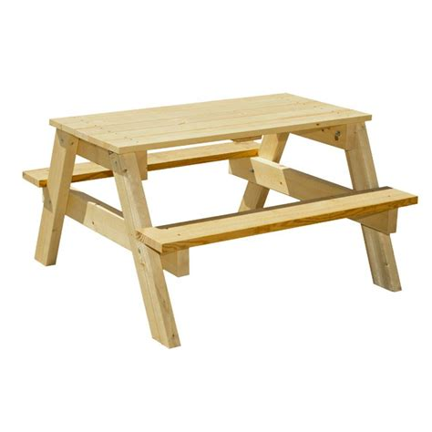houseworks 3 ft junior pine picnic table 94751 the home