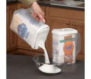 baking container storage flour and sugar storage container homegadgetsdaily com home and kitchen gadgets best