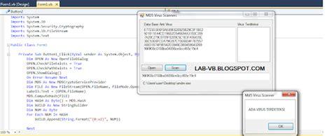 membuat antivirus sederhana cara membuat antivirus dengan visual studio programmsear