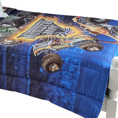 monster truck comforter monster jam twin full comforter truck destruction bedding