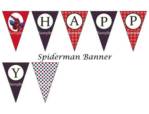 printable spiderman birthday banner spiderman birthday party instant download w bonus