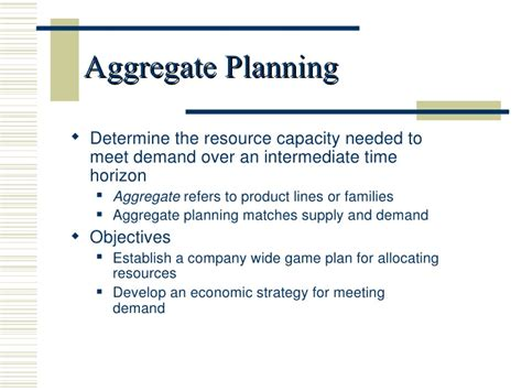 demand management plan template demand management plan template new aggregate planning 1