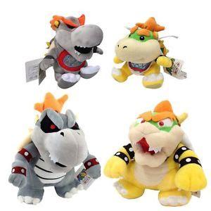 mario bros bowser koopa bone 4pcs mario plush toys bowser bones bowser bowser