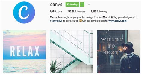 canva company profile 21 instagram accounts to follow for brand inspiration