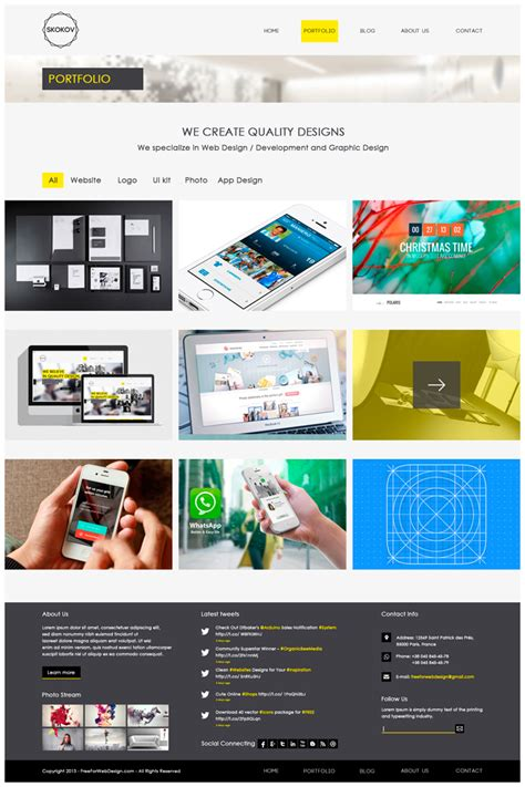 design company profile psd skokov free corporate web design template psd on behance