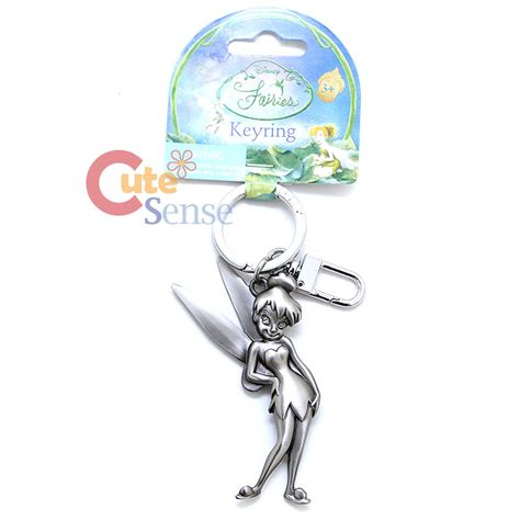Figure Tinker Bell Key Chain Set 3aa disney tinkerbell pixie silver pewter key chain key ring stand ebay